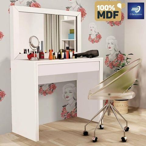 Penteadeira 100% MDF com 1 espelho e 1 gaveta #FreteGRÁTIS* #Garantia #Lacrado - Foto 2