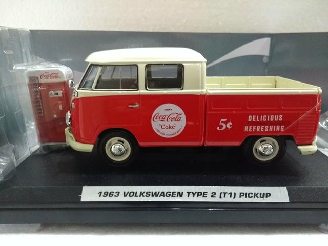 Miniatura Volkswagen Kombi Pickup Coca cola - Foto 2