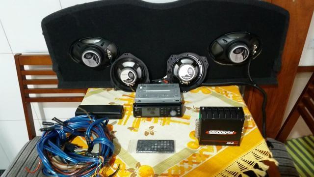 Rádio módulo alto falantes