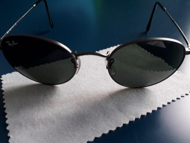 Óculos Ray Ban Round Original Seminovo - Foto 4