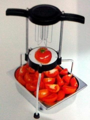 Cortadora fatiadora de Tomates Vertical ? 6 e 8 fatias