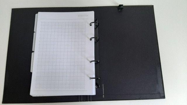 Caderno Fichário Preto - Ótima - Foto 2