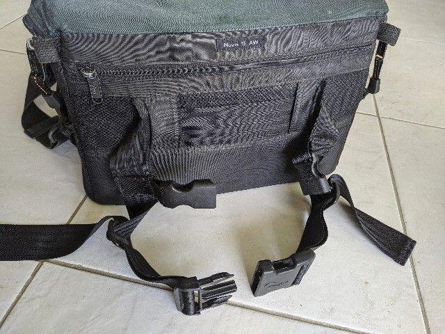 Bolsa fotografica profissional LowePro Nova 5 AW com acessorios originais - Foto 3