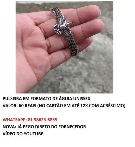 pulseira em formato de águia unissex  - Foto 4