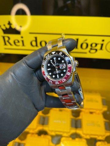 Rolex 40mm preto com vermelho novo - Foto 3