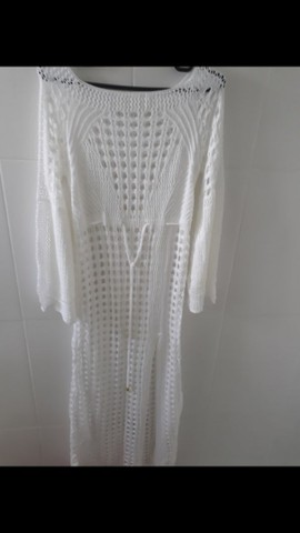 Saída de praia em tricô (Branca) - Foto 2