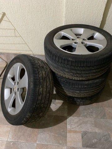 Jogo de roda cruze 17 + pneu turanza - Foto 3