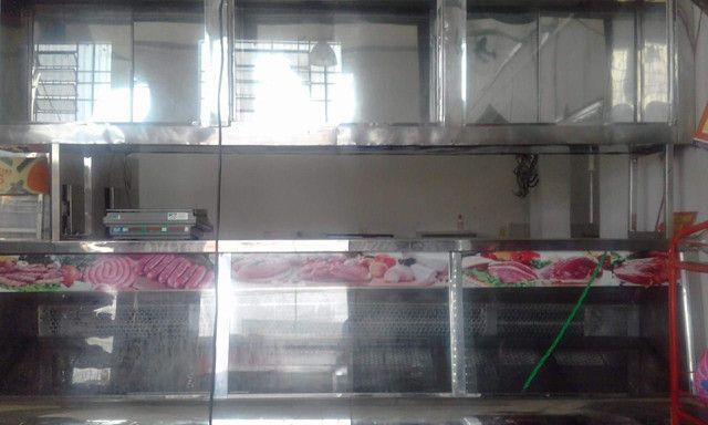 Balcão ,expositor e geladeira de açoque seminovos   - Foto 4