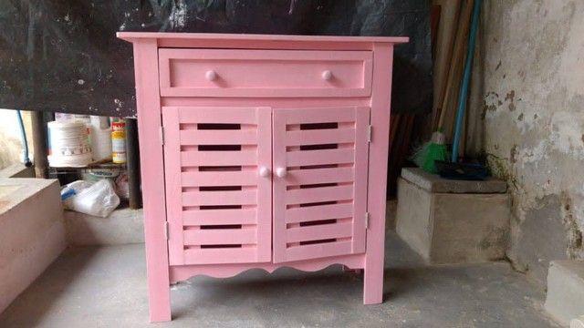 Cômoda rosa bebê - Foto 3