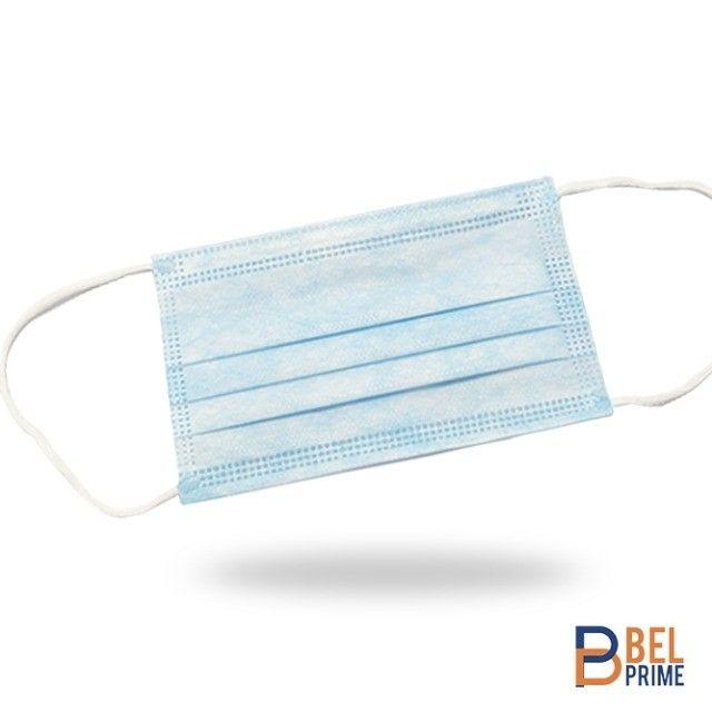 Máscara Cirúrgica Tripla Descartável Infantil Azul 25und - Foto 2