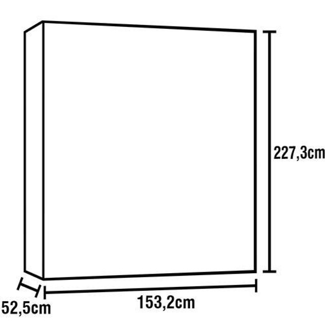 Guarda-roupa 4 portas grande - Foto 3