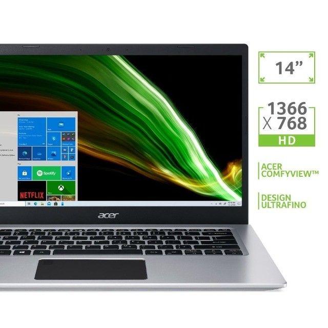 Notebook Acer Aspire 5  Core i3 10 ger. Ram 4 GB  Ssd128 gb Novo, Lacrado! - Foto 2