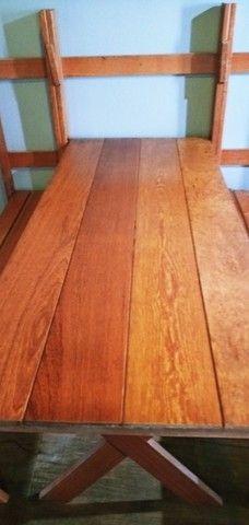 Mesa dobravel em madeira de Angelim - Foto 3