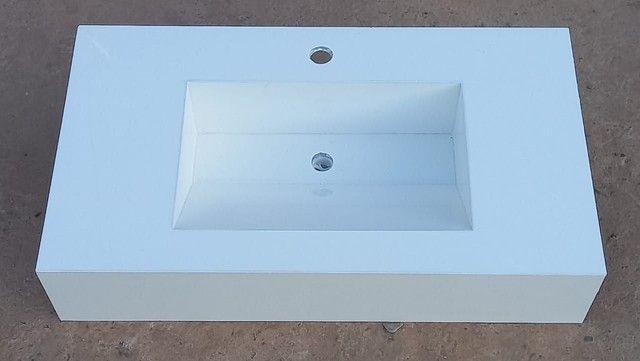 Pias para banheiro de porcelanato  - Foto 5