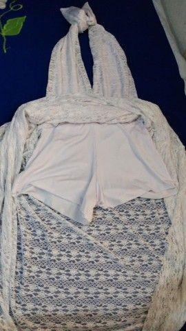 Vestido branco G usado apenas uma vez final de ano R$ 190.00 - Foto 2
