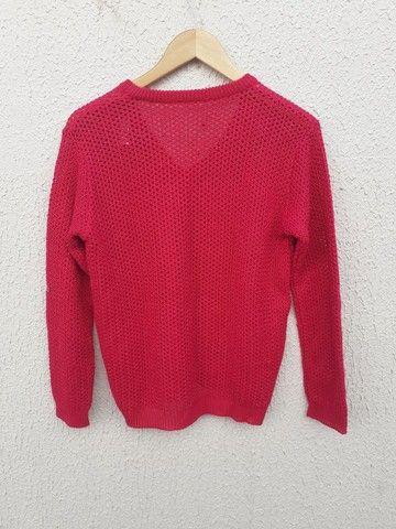 Blusa feminina rosa Tam M - Foto 3