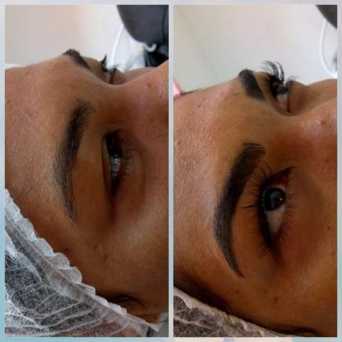 Micropigmentação de sobrancelhas e alongamento cíl