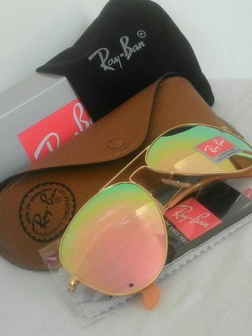 Oculos Aviador Rosa lente em Cristal UV 400 - Bijouterias, relógios ... 73c29d3fb7