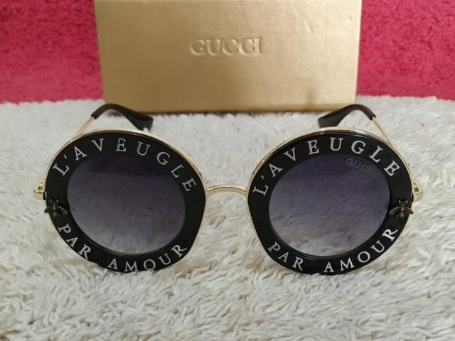 49f5be0dcb2bf Óculos Tendência! Lindo Óculos de sol Gucci Feminino - Bijouterias ...