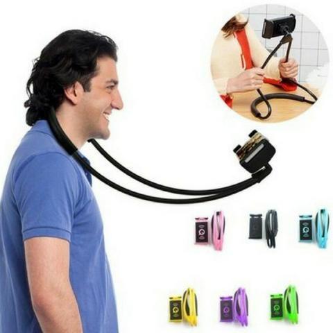 Suporte Para Celular Phone Holder - Pescoço Colar Cama
