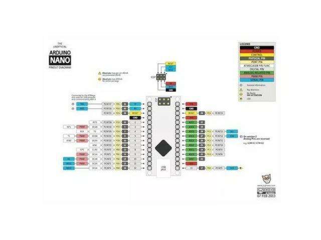COD-A3 Arduino Nano Micro USB V3.0 Atmega 328P 5V 16M Robotica - - Foto 4