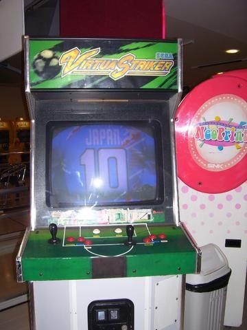 Máquina Fliperama Virtua Striker Simulador Original Sega