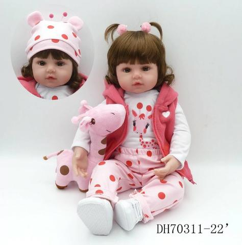 Boneca Bebê Reborn Dolls 47cm - Entrega Grátis - Foto 5