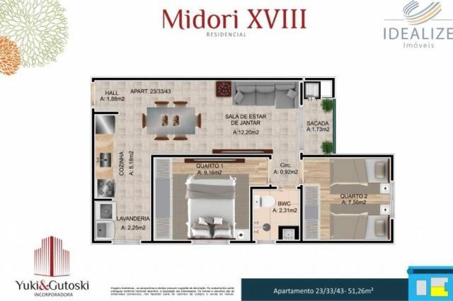 Apartamento à venda com 2 dormitórios em Afonso pena, São josé dos pinhais cod:2060496 - Foto 15