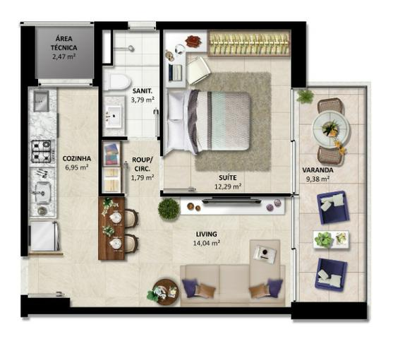 Lançamento - Duetto Barra - Apartamentos de 1 e 2 quartos Vista Mar na Barra - Foto 3