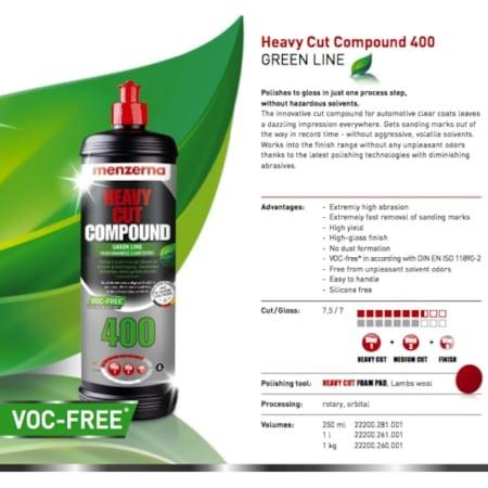 Polidor Menzerna Heavy Cut Compound 400 Green Line 1l - Foto 2