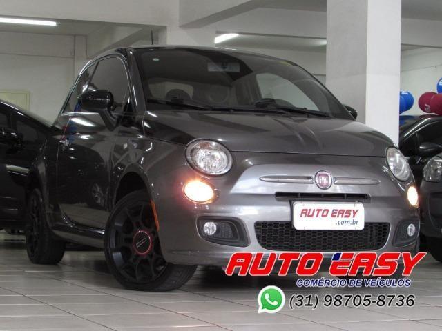 Fiat 500 Sport Air 1.4 C/ Couro!