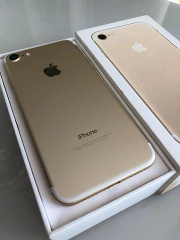 IPhone 7 128gb Dourado intacto semi-novo - Foto 4