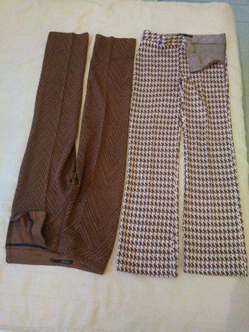 CALÇAS Femininas, tecido lãzinha novas somente P. - Foto 4