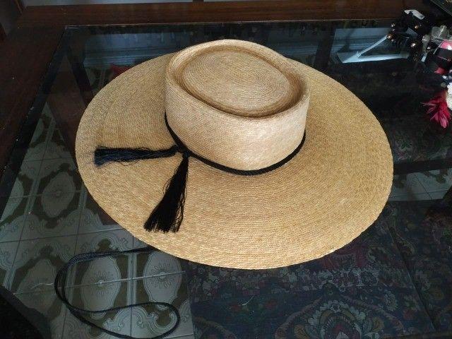 Chapéu chileno com estojo- Sombrero Chupalla