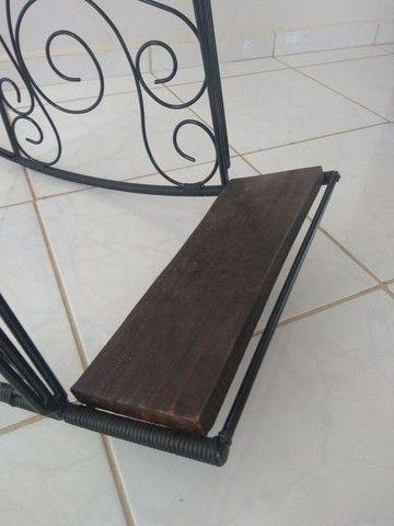 Cadeira balanço ferro maciço - Foto 5