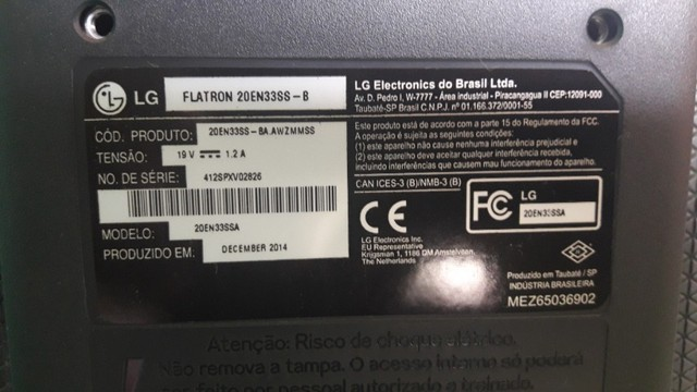 """Monitor LG Led 19,5"""" - Modelo 20EN33SSA  - Foto 4"""