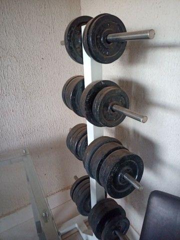 Ilha de musculação Vision Fitness bem conservado - Foto 3