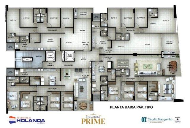 JS- Apartamento na Beira Mar de Casa Caida - 144m²   Varanda Gourmet Holanda Prime - Foto 8