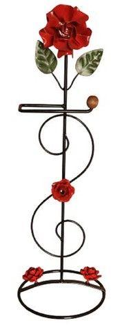 Porta papel de flores feito de ferro artesanato oferta  - Foto 2