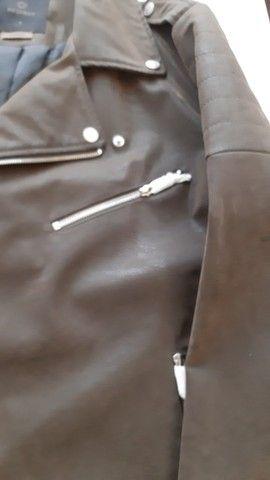 Jaqueta couro e camurça tam G Nova  - Foto 2