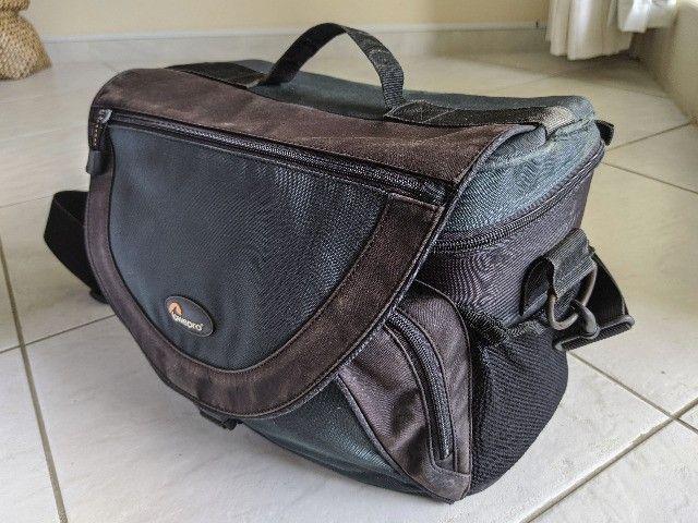 Bolsa fotografica profissional LowePro Nova 5 AW com acessorios originais - Foto 2