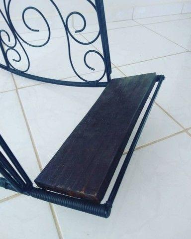 Cadeira balanço ferro maciço - Foto 3