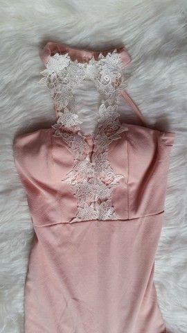 Vestido de grife/Veste P/M/Rosa claro/tenho outros modelos disponíveis/leia a descrição - Foto 2