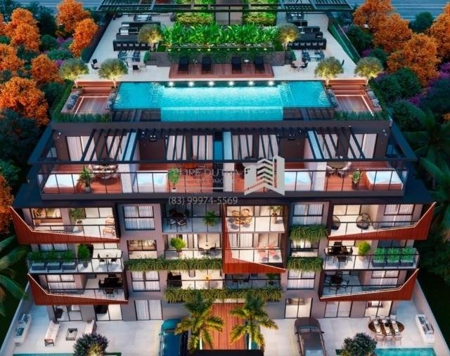 Lançamento Beira-Mar Jardim Oceania/Bessa com 1 ou 2 Suítes, lazer