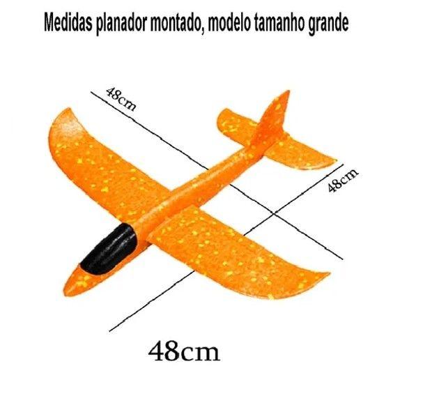 Aeromodelo Planador Manual Avião Isopor Flexível, Muito Divertido!! - Foto 3