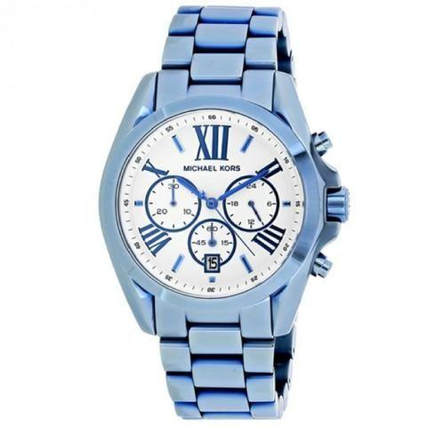 Relógio Michael Kors MK6488 Bradshaw Ocean Blue Ip Chronograph