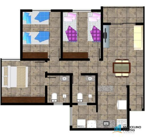 Apartamento residencial à venda, Mondubim, Fortaleza - AP0180. - Foto 6