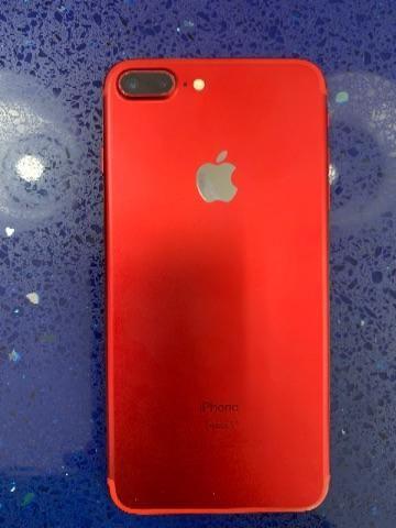 IPhone 7 Plus 128gb Vermelho. Muito novo