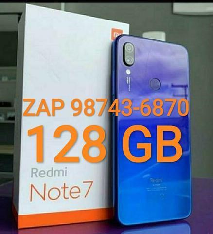 Celular Xiaomi Redmi Note 7 Lacrado Blue Neptune>4Gb/128Gb>COMPLETO TOPADO !