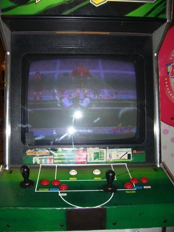 Máquina Fliperama Virtua Striker Simulador Original Sega - Foto 4